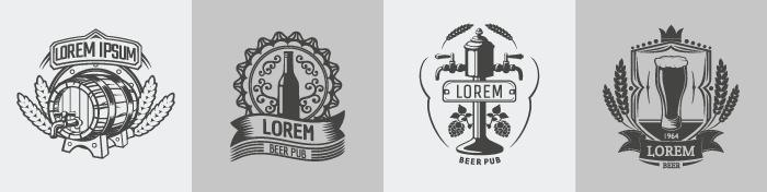 Various beer label examples