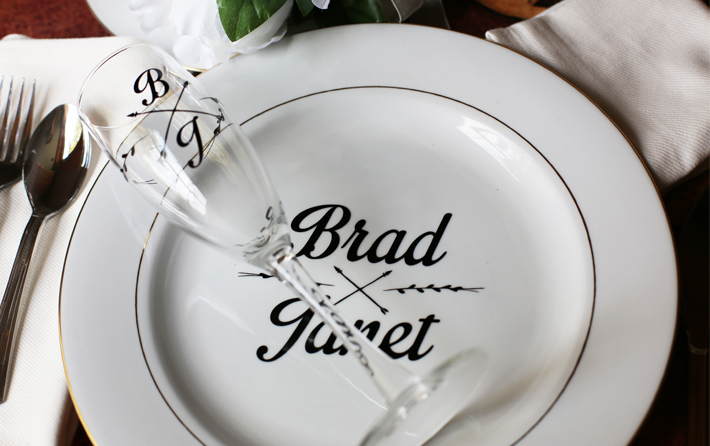 Personalize your Dinnerware with Vinyl